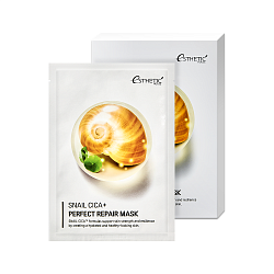 Тканевая маска для лица МУЦИН УЛИТКИ Snail Cica+ Perfect Repair Mask, 25 мл* 1шт, ESTHETIC HOUSE