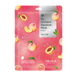 Тканевая маска для лица с персиком My Orchard Squeeze Mask Peach, FRUDIA